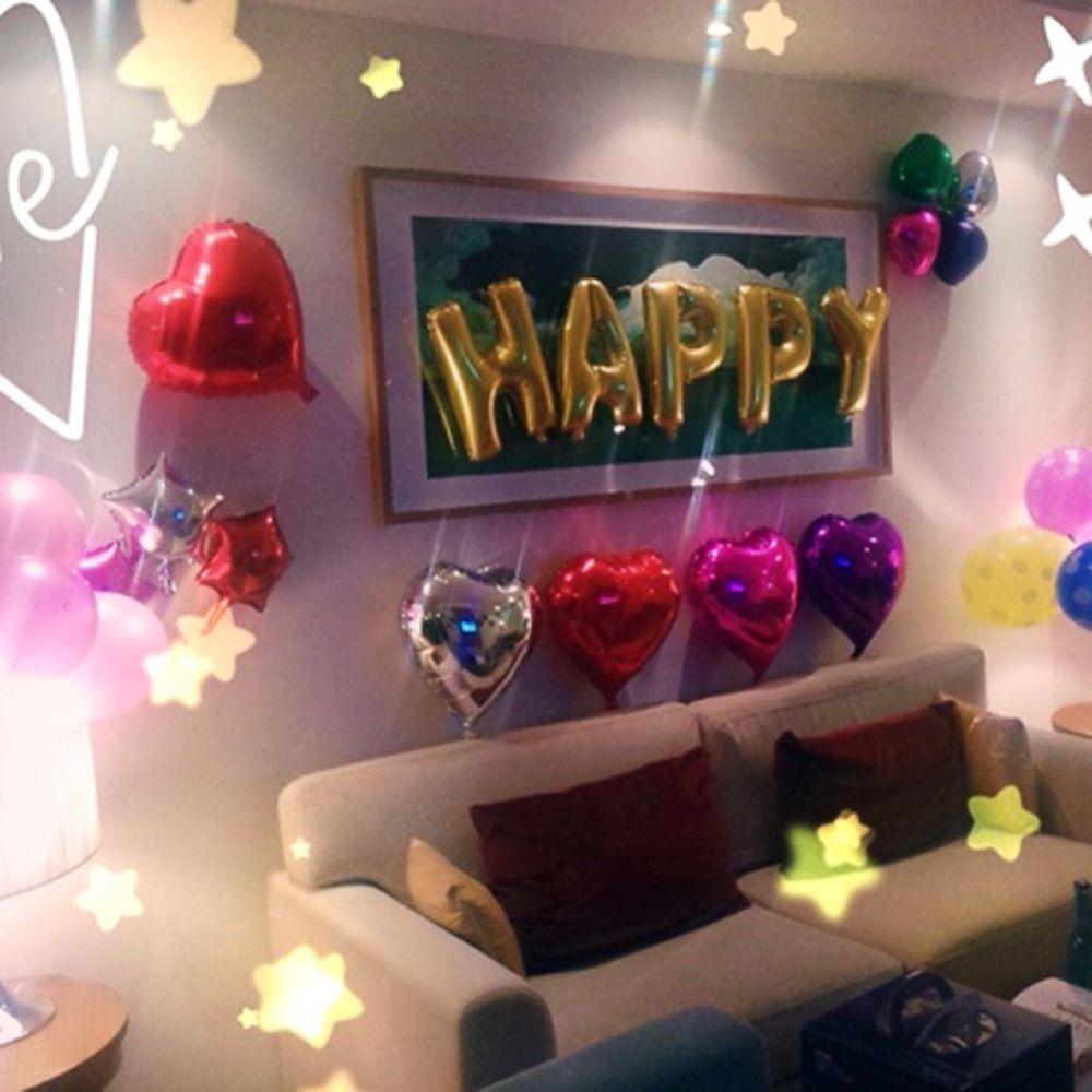 Lindo oro alfabeto cartas globos del feliz cumplea os for Cuarto adornado para cumpleanos