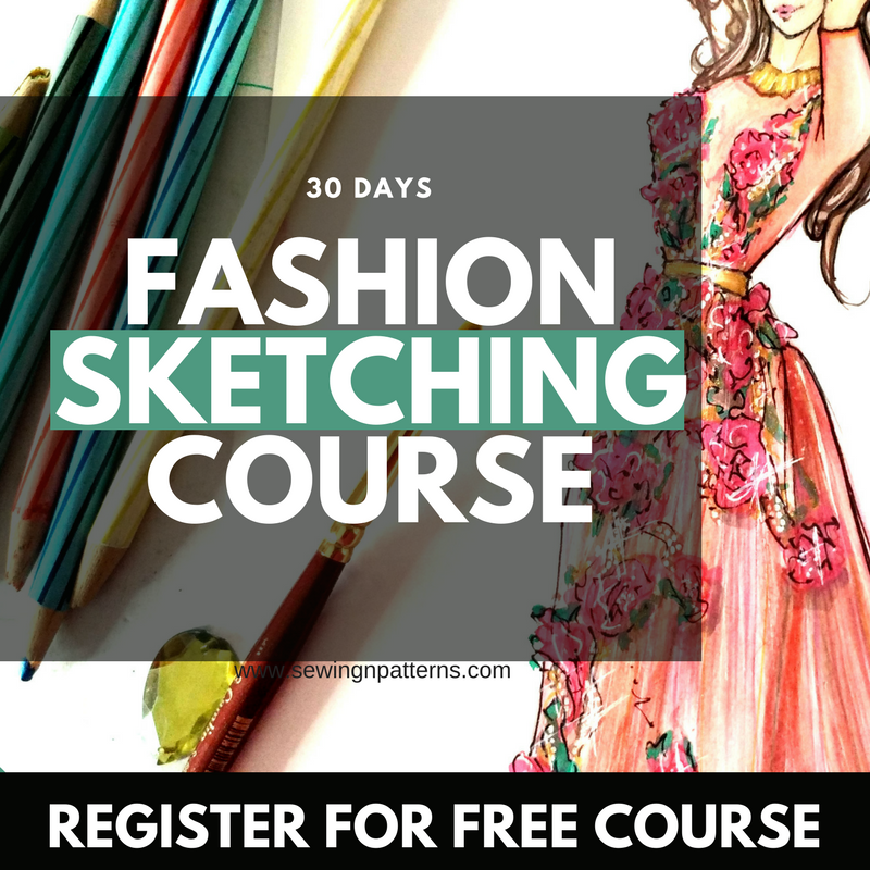 Presenting Fashion Sketches The Better Way With Flatlay Sewingnpatterns Fashion Drawing Tutorial Fashion Design Classes Fashion Design Sketches