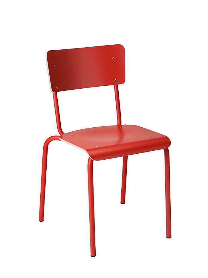 Chaise empilable College rouge orange chaises
