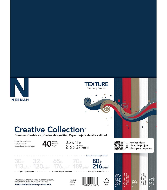 Neenah Paper Textures Cardstock 8 5 X11 40pk Neenah Paper
