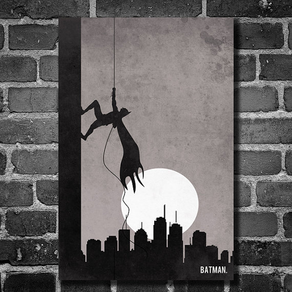 Batman Climb Movie Poster Minimalist Design Comic Book