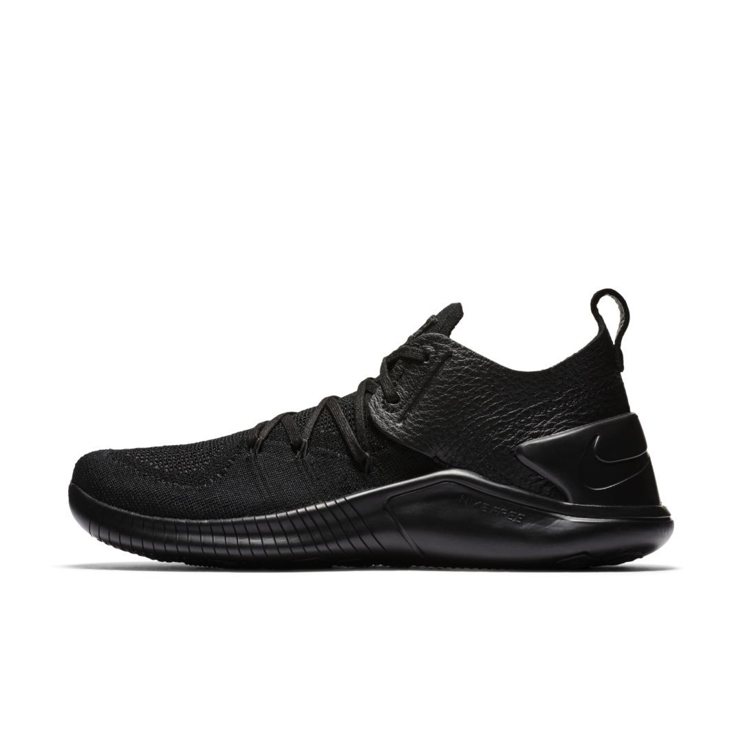 cheap for discount 19d9f 05b37 Nike Free TR Flyknit 3 Leather Women s Gym HIIT Cross Training Shoe Size  10.5 (Black)