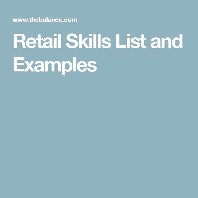 Top Retail Skills Employers Look For | Hacking | Pinterest | Skills ...