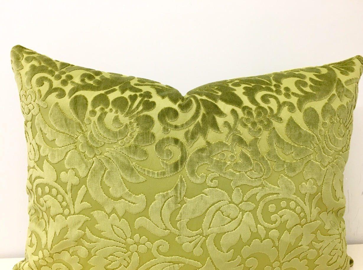 Olive Green Pillow Cover, Velvet Pillow, Green Throw Pillow ...