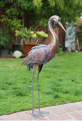 Outdoor Indoor Accent Metal Patina, Outdoor Bird Statues
