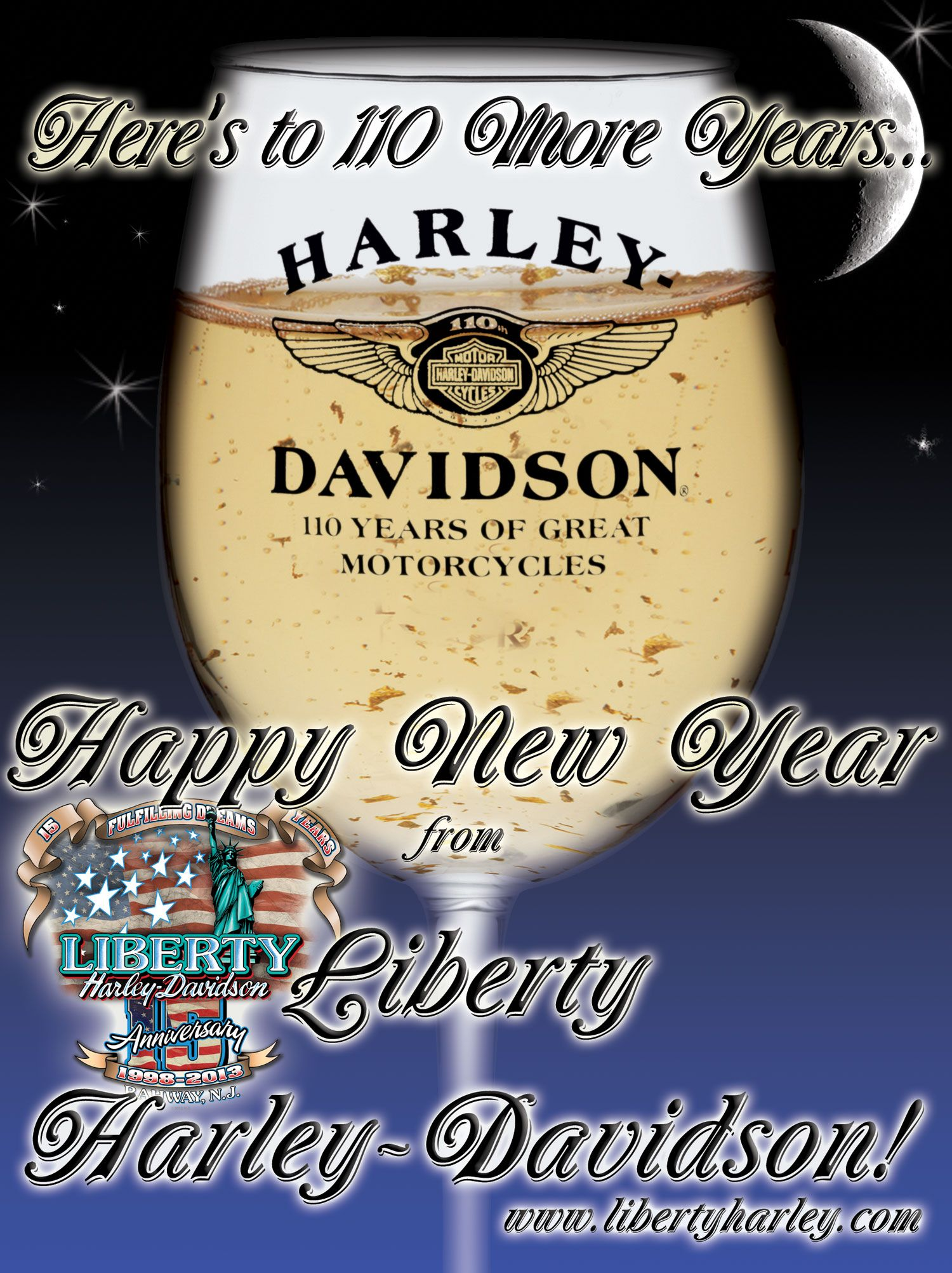 happy new year everyone from liberty harley davidson