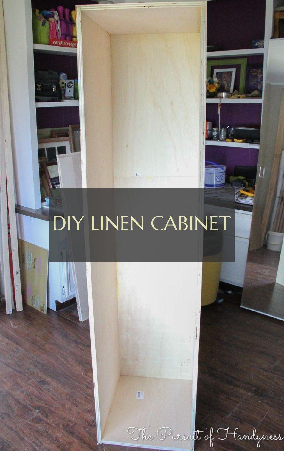 diy linen cabinet