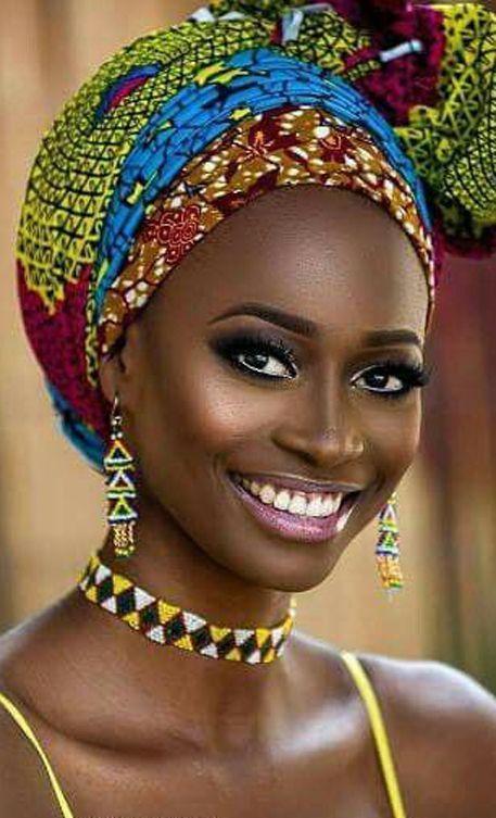 Latest Ankara Head Wrap Styles 2018: Modern Styles #africandressstyles