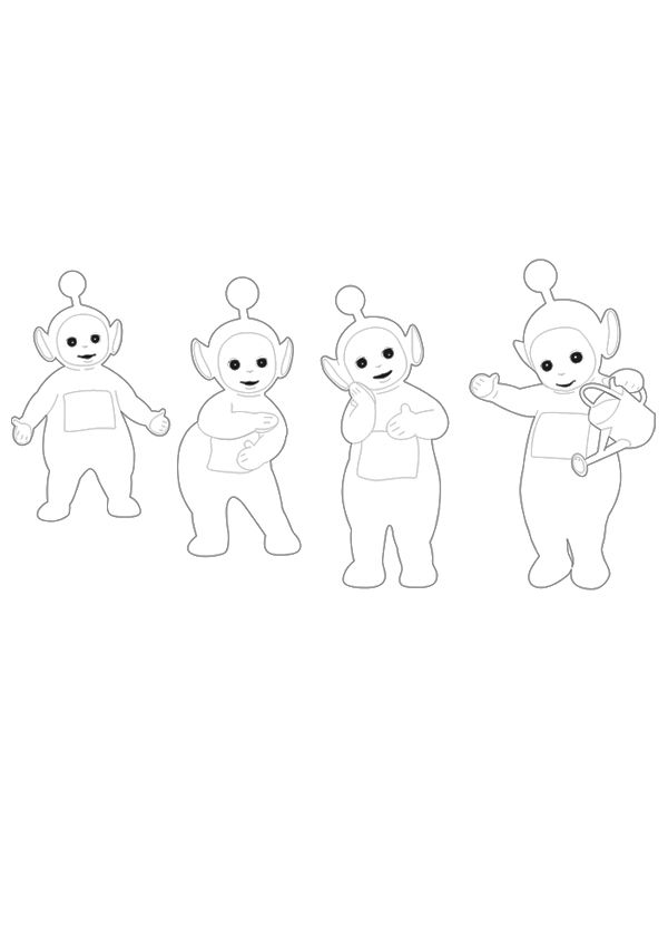 Free Online Teletubbies6  Kids Activity Sheets Animated