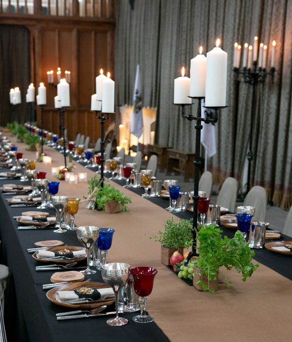 If you're going to create a Medieval banquet then create ...