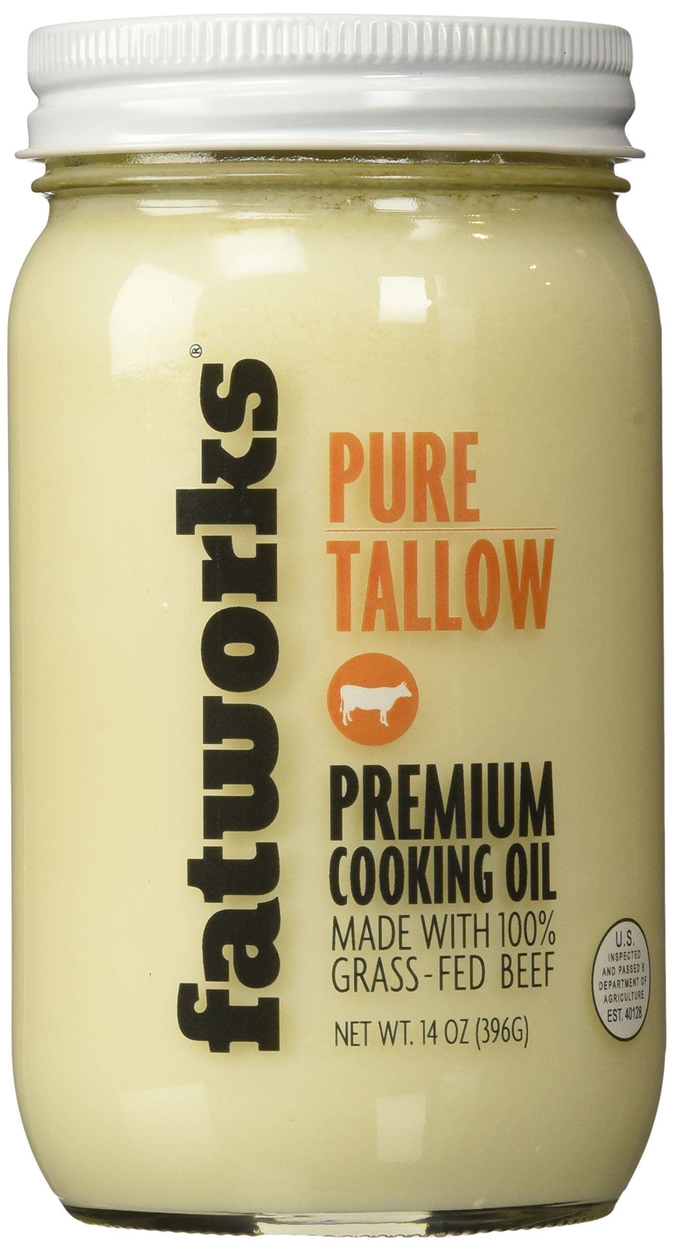 Beef Tallow Grass Fed Kettle Rendered And Fine Filtered 14oz Beef Tallow Tallow Grass Fed Beef