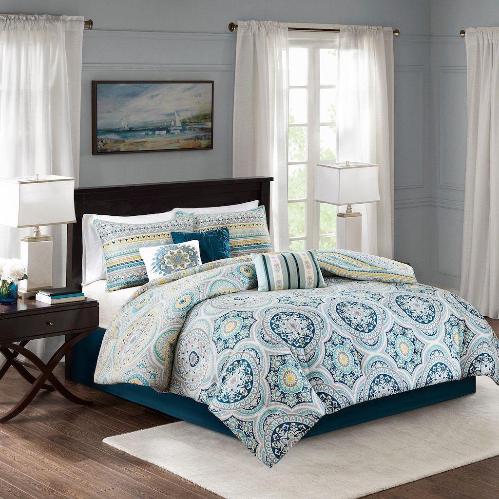 Madison Park Delta 7 piece Printed Comforter Set