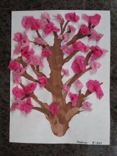 Tissue Paper Cherry Blossom Tree Cherry Blossom Art Tissue Paper Trees Cherry Blossom Tree