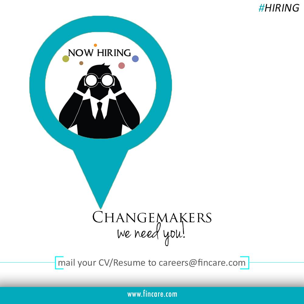 Pls send in your resume with your field of interest to careers@fincare.com Or visit: www.fincare.com #Hiring #Jobs #Careers