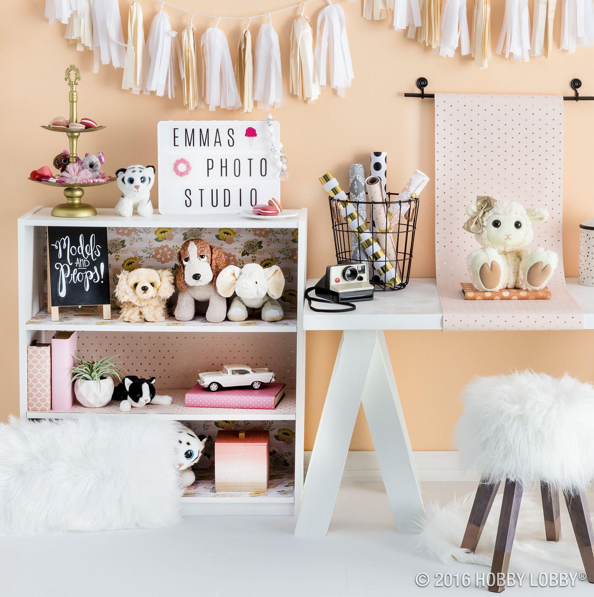 Create a cute photo op backdrop; line a boring bookshelf