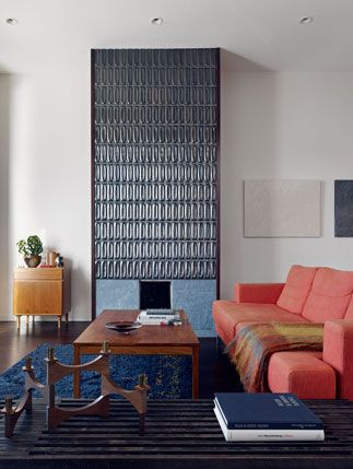 Love Heath Ceramic Tiles Over A Fireplace Home Living Dining Room Contemporary Living Room