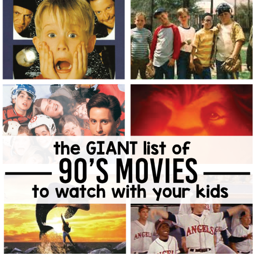 the giant list of 90s movies to watch with your kids