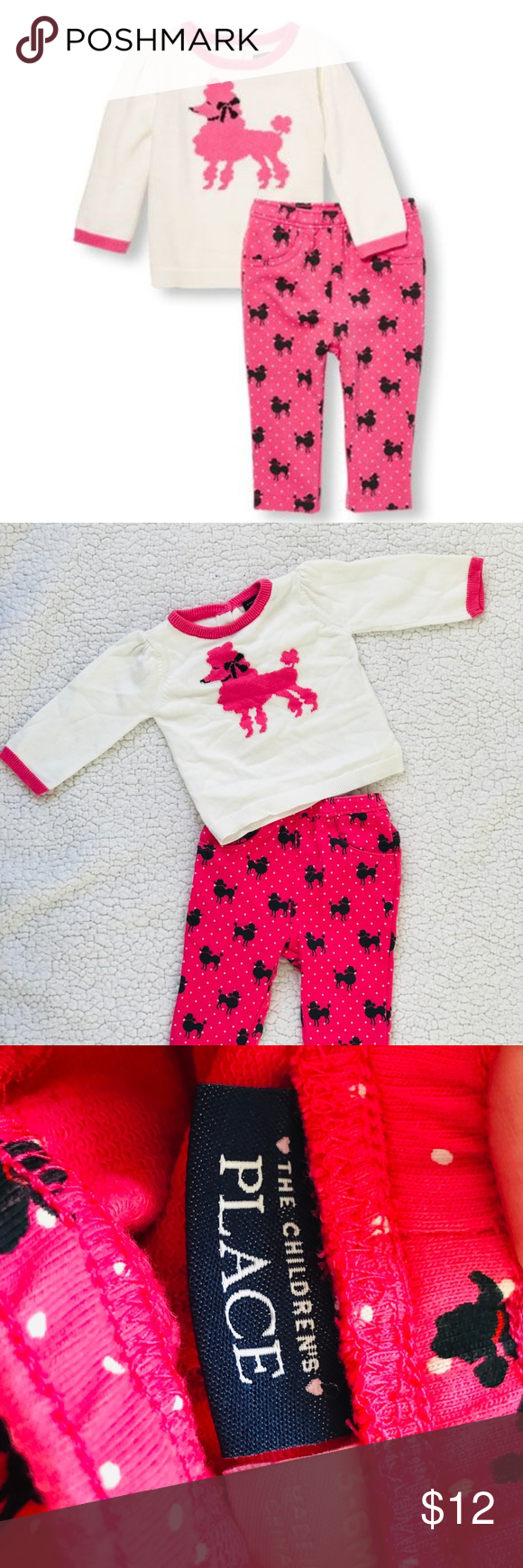 The Childrens Place Baby Girls Poodle Legging Set