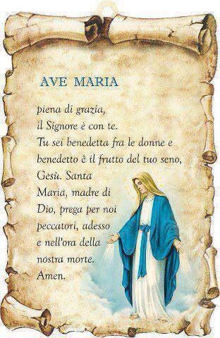 preghiera ave maria