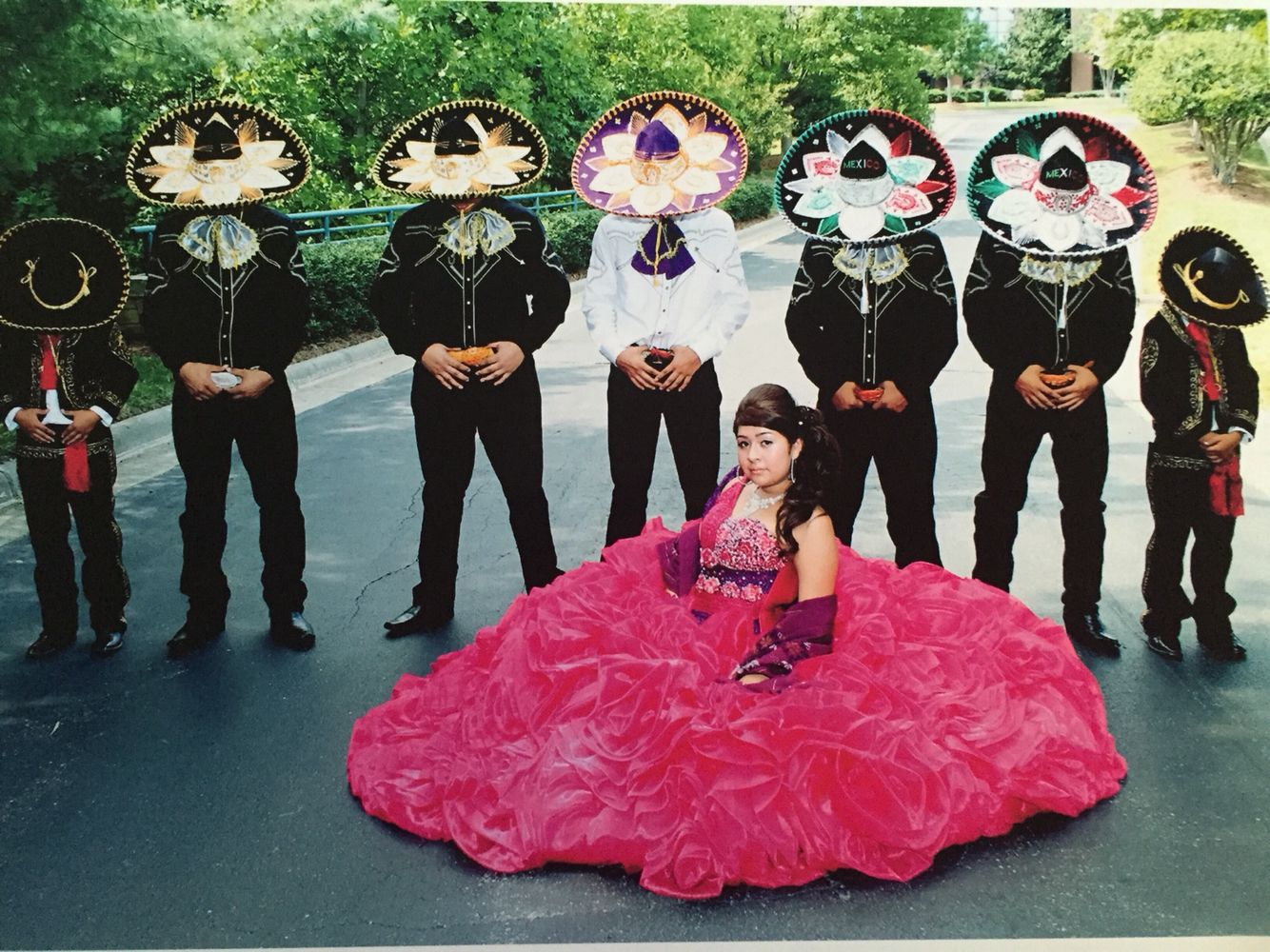 Mexican quinceañera dress and charro themed party ...
