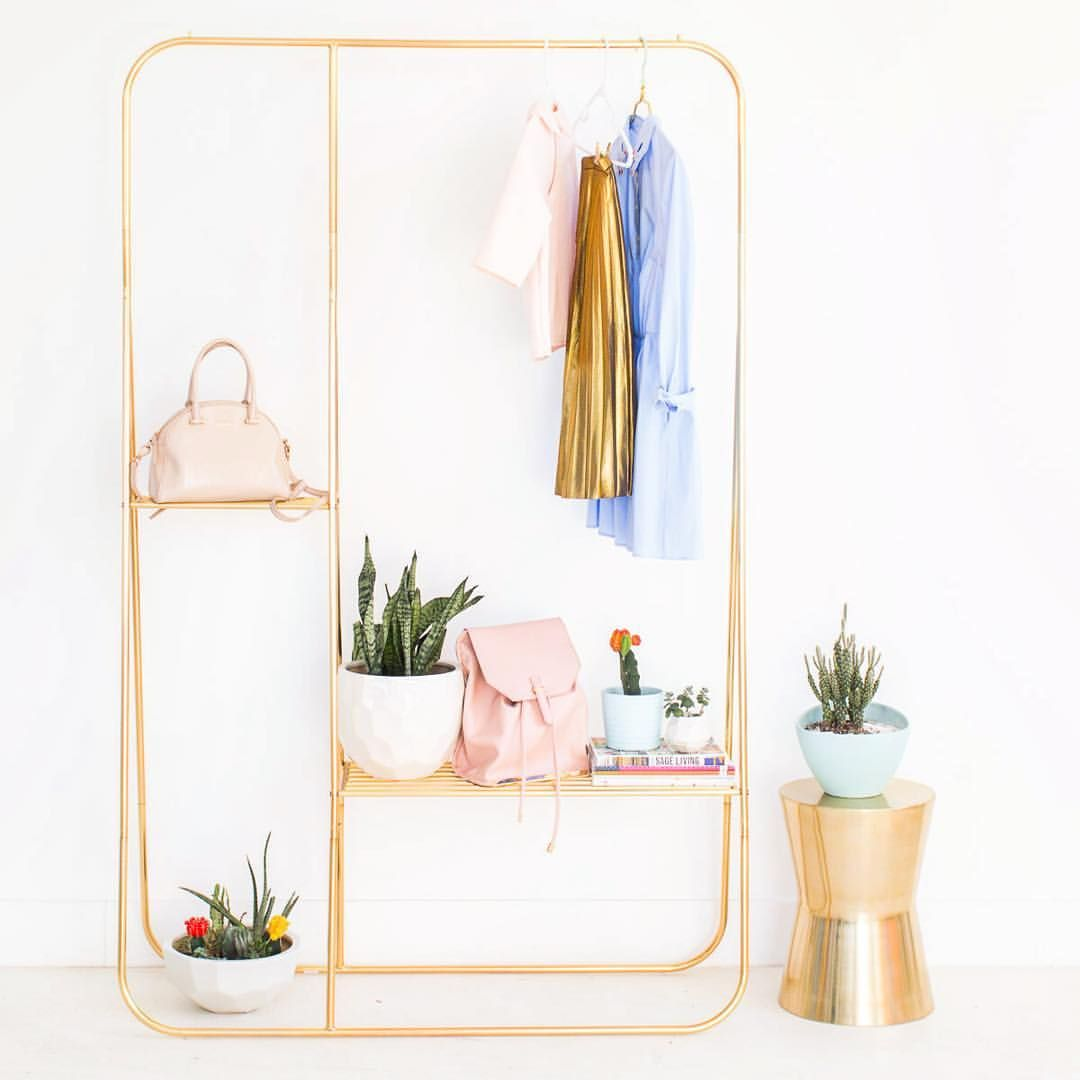 The Gold Clothing Rack Of My Home Decor Dreams Clothing Rack