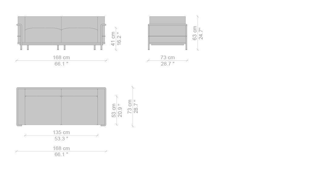 Divano LC3 Divano Le Corbusier, Pierre Jeanneret, Charlotte Perriand ...