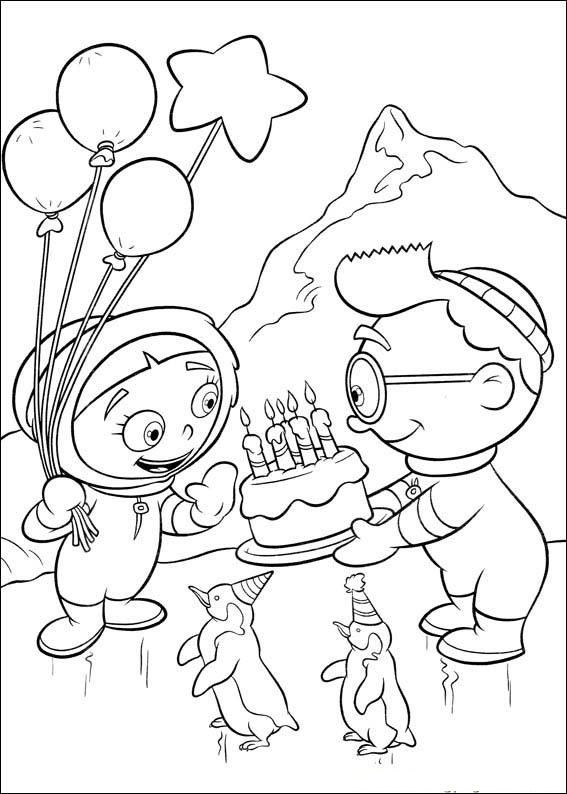 little einsteins provide a birthday cake