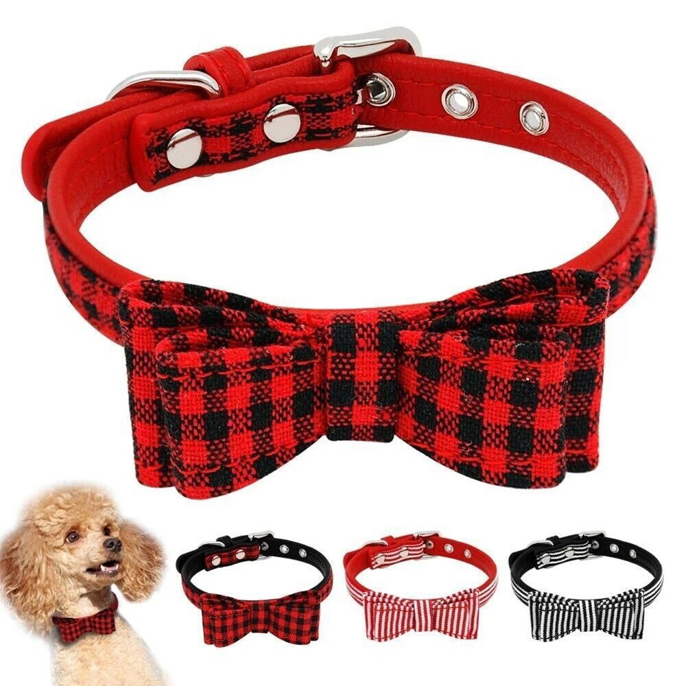 Breathable Cat Dog Harness Plaid Bowknot Vest With Cute Bow Tie Pet Supplies