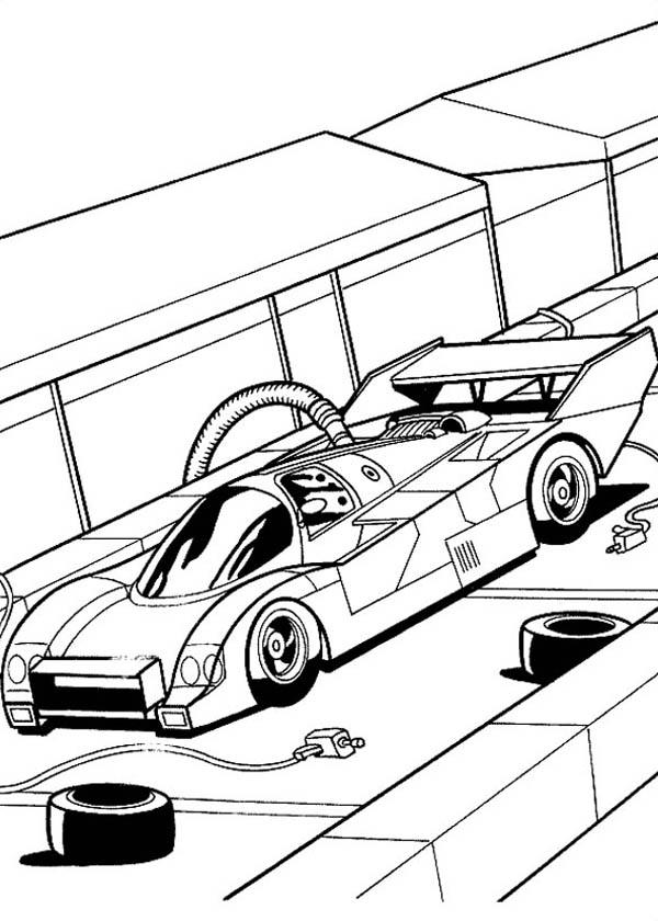 Hot Wheels Fast Car Garage Coloring Page - NetArt di 2020