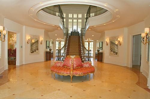 Upstairs Foyer Ideas : Neat way to make it an open entry upstairs but not
