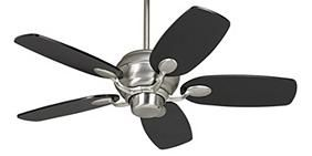 "Casa Optima Ceiling Fan - 43"" Brushed Steel and Espresso"