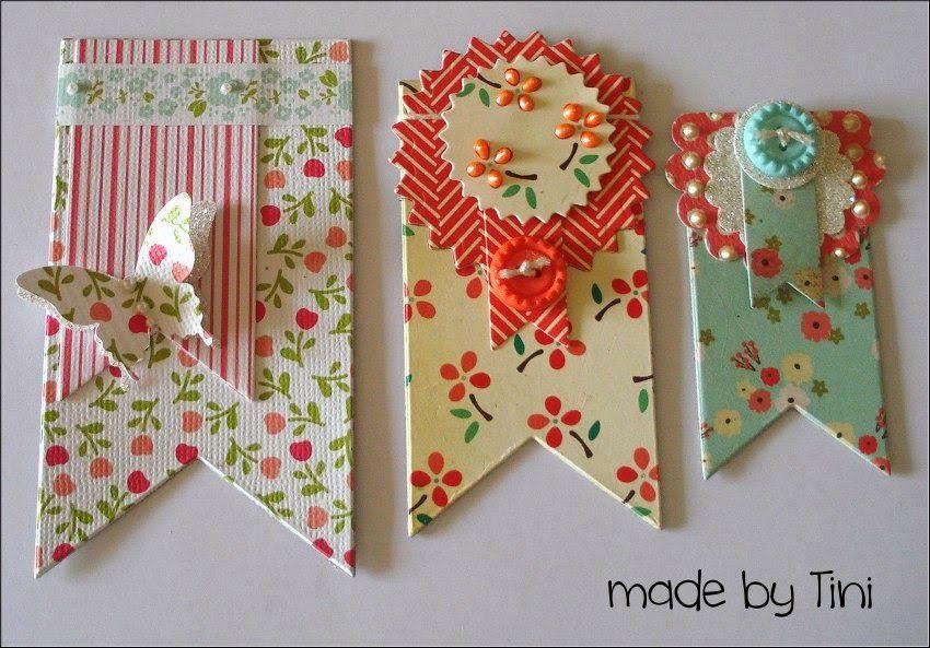 handmade chipboard embellishments banner  card