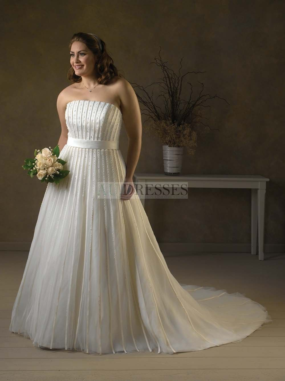 Exquisite a line flat neckline chubby empire waist sash wrinkle gorgeous empire strapless floor length chapel ruffling sequins plus size wedding dressesa line wedding dresseswedding dressesbuy high quality dresses ombrellifo Choice Image