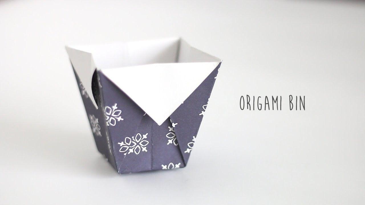 DIY: Origami Bin