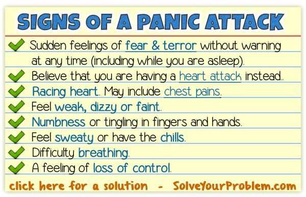 An excuse for panic attacks