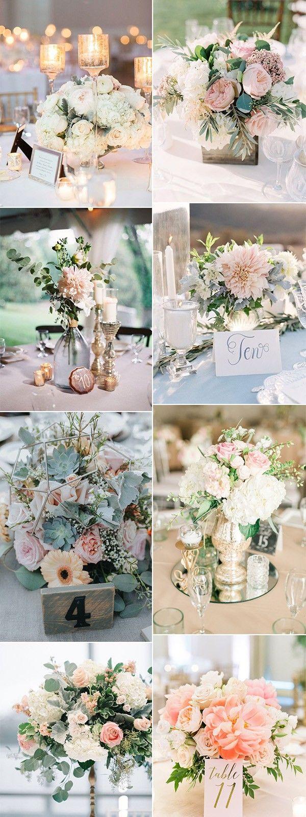 elegante roze bruiloft middelpuntideeën voor de zomer
