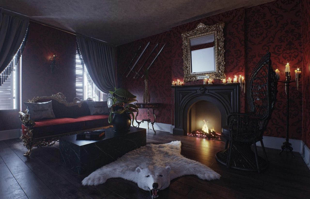 Spend a night in the Addams family mansion for Halloween