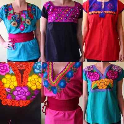 2490fba23b78 Blusas Artesanales Bordadas En Chiapas Set De 15 Piezas | Huipil ...