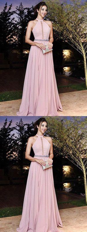 6495965b03e Chic A Line Prom Dress Modest Cheap Long Chiffon Simple Prom Dress ...