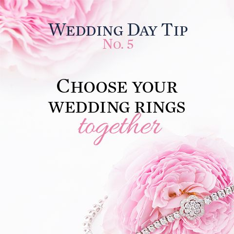 CH Wedding Day Tip No. 5  Choose your wedding rings together, make it a shared decision and find the perfect pair at Chisholm Hunter. These rings will be worn for a long time therefore making the decision together is another moment to share with each other throughout your marriage.  You can find some helpful information on finding the perfect wedding rings here: