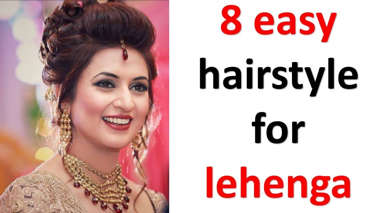 10 easy and simple hairstyles with lehenga  messy bun  new