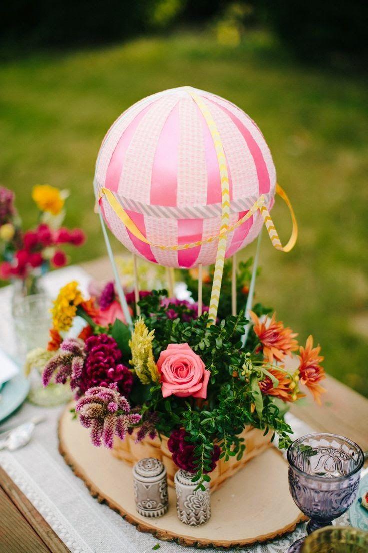7 centos de mesa para bodas con globos