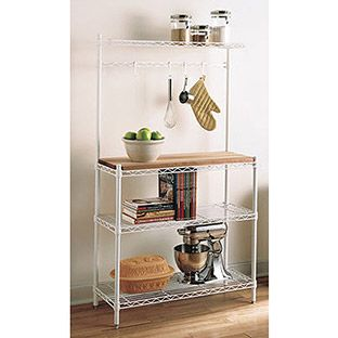 Intermetro Baker S Rack With Images Bakers Rack Shelves