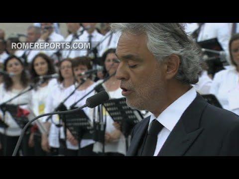 Andrea Bocelli Interpreta El Ave Maria De Bach En El Vaticano In