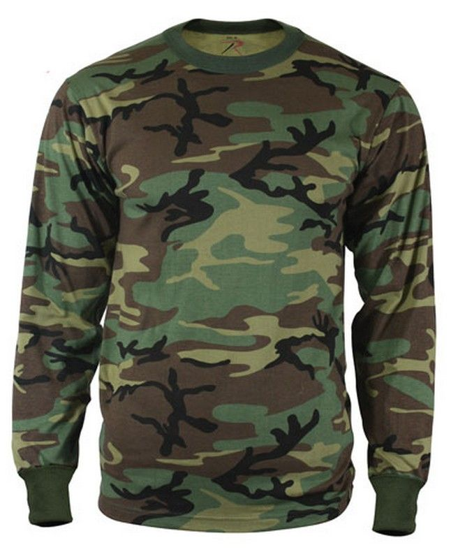 8dea37c8c37c Woodland camo long sleeve shirt $9.98 Poly/cotton #Camouflage #Woodland  http:/