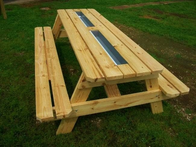 gutter picnic table | Beer Gutter Picnic Table - Picnic ...