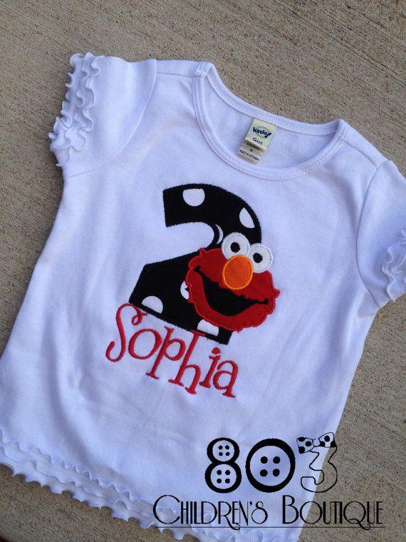 Custom Elmo Birthday Shirt By 803childrensboutique On Etsy 2200