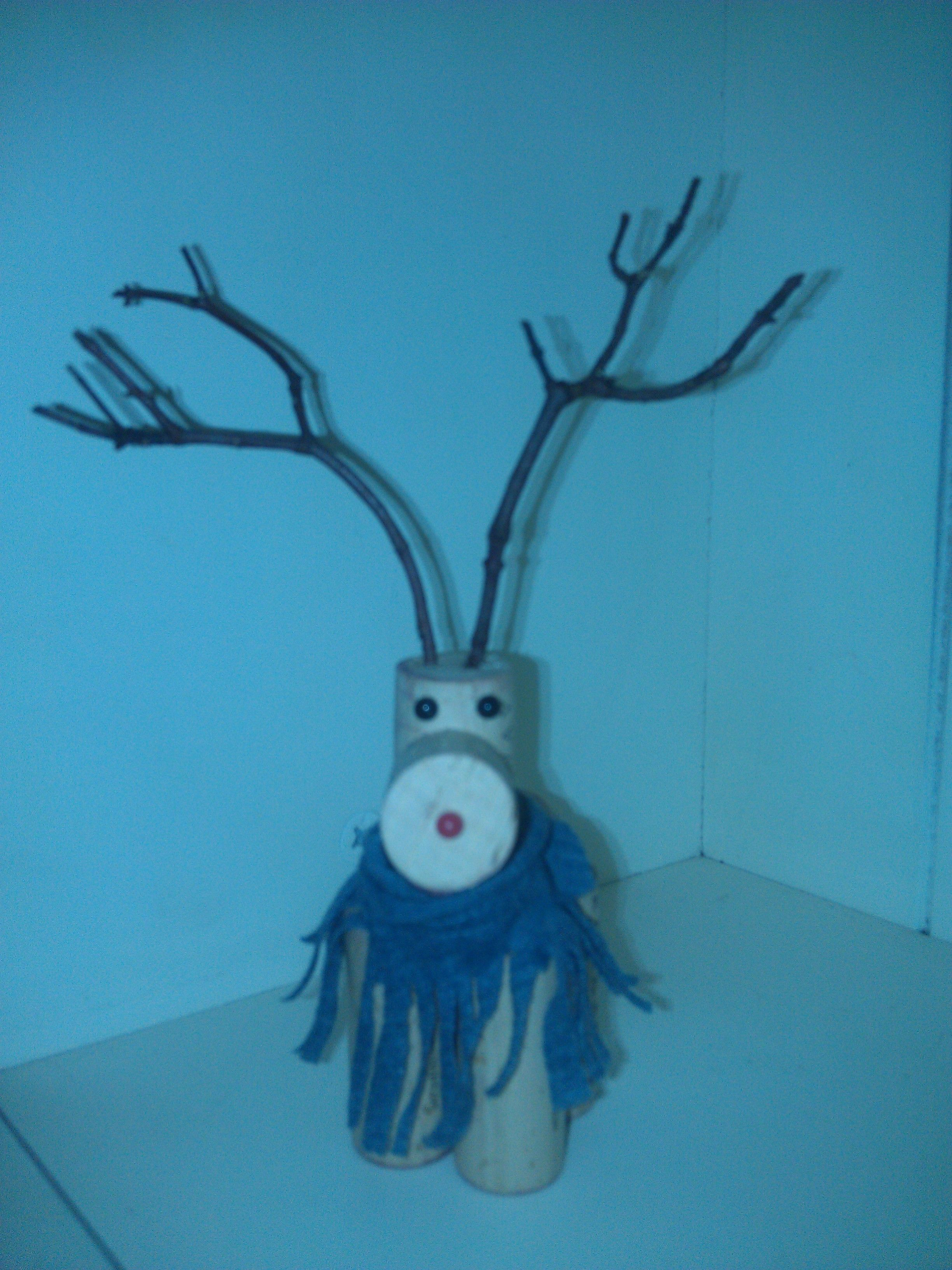 My favorite cork reindeer - made by me =)