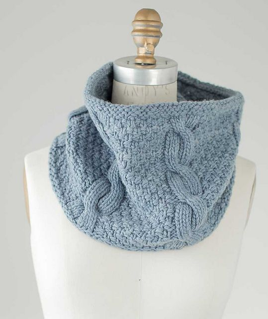 Ravelry: Cabled Moss Stitch Cowl pattern by Churchmouse ...