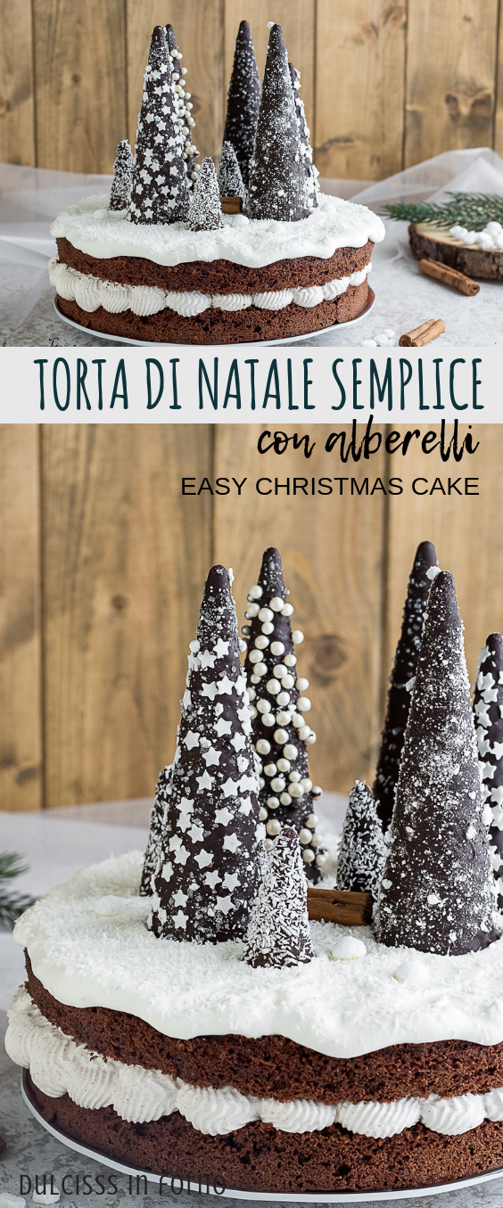 Alberelli Dolci Di Natale.Torta Di Natale Semplice Con Alberelli Di Cioccolato Torta Di Natale Ricette Di Dolci Natalizi Dolci Di Natale